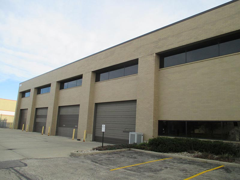 Photo of a commercial masonry repair job completed by Soumar Masonry Restoration Inc. in Elmhurst IL